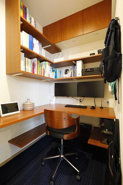 マンションリノベーション、三井のリフォーム、ワークスペース、リビング書斎、コンパクト書斎