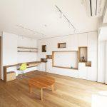 「株式会社 水雅」の「壁一面をまるごと収納に! 美しい造作家具に囲まれたリノベーション。」