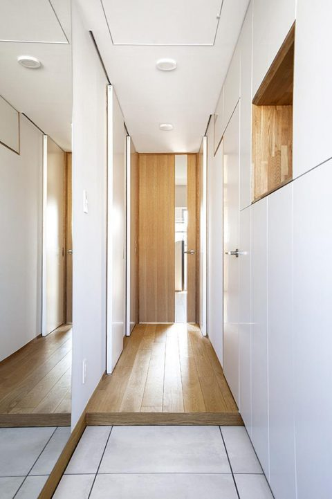 水雅、工務店、リノベーション、マンションリノベーション、玄関収納、造作収納、壁面収納、すっきり玄関