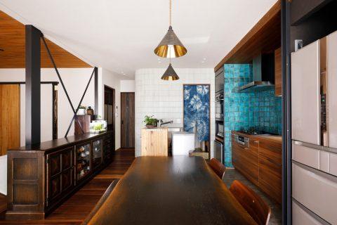 戸建てリノベ、2世帯、リノベーション、スタイル工房、アール壁、タイル壁、ブレス