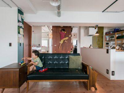 「ゼロリノベ」のリノベーション事例「自由な発想のマンションリノベーション!子供たちが思いきり遊べる家」