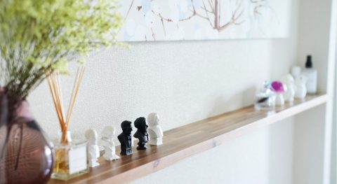 マンションリノベーション、インテリックス空間設計、ディスプレイコーナー、飾り棚