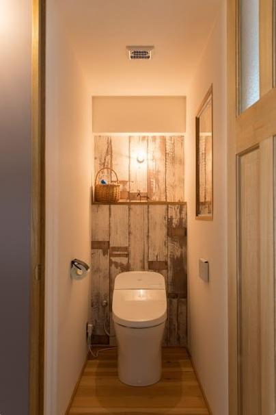 マンションリノベーション、ゼロリノベ、ヴィンテージ風サニタリー、トイレ室内窓、トイレディスプレイ