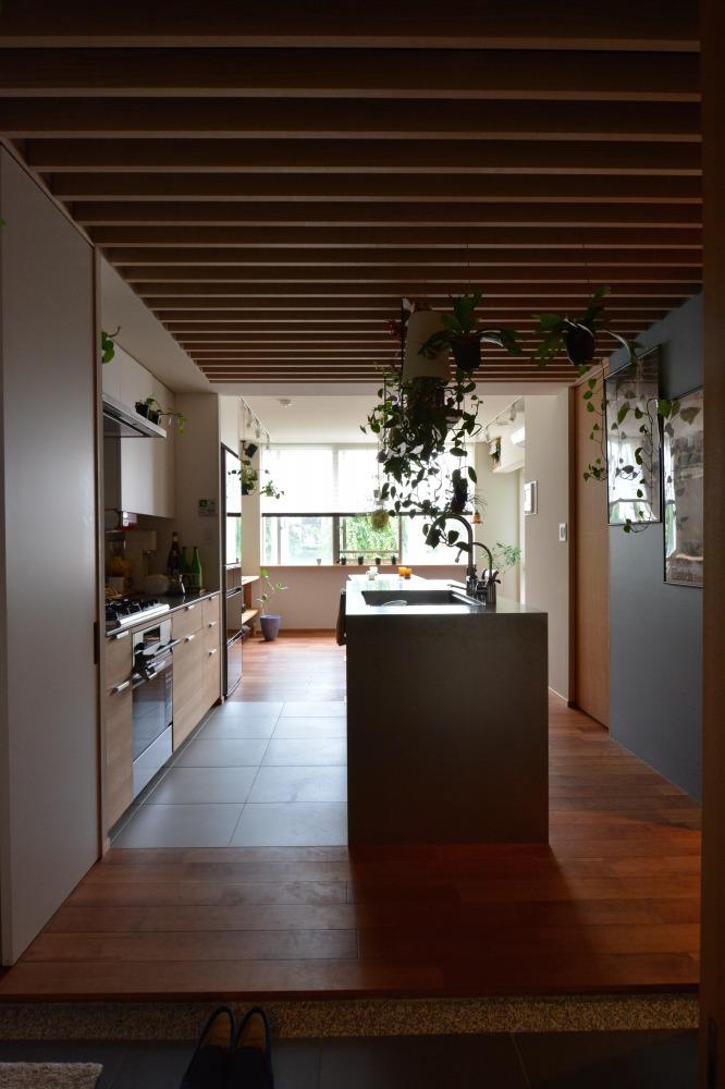 マンションリノベーション,ハンズデザイン一級建築士事務所,玄関,キッチン,ダイニング