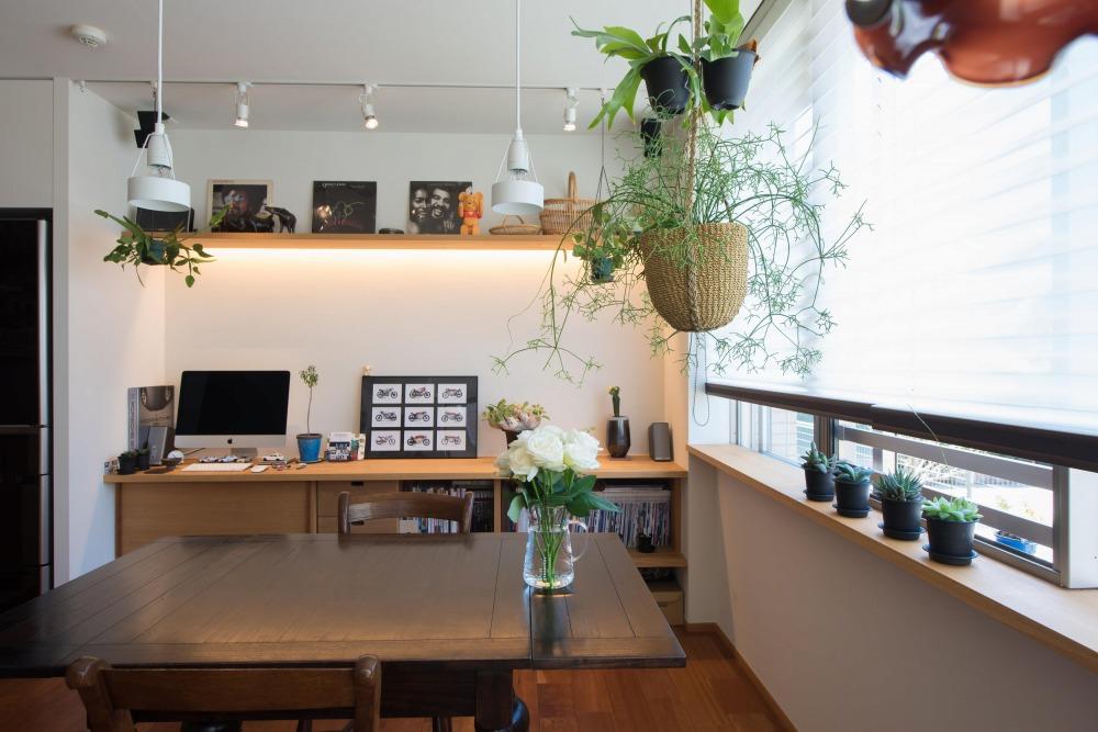 マンションリノベーション,ハンズデザイン一級建築士事務所,ダイニング,飾り棚,ハンギングプランター