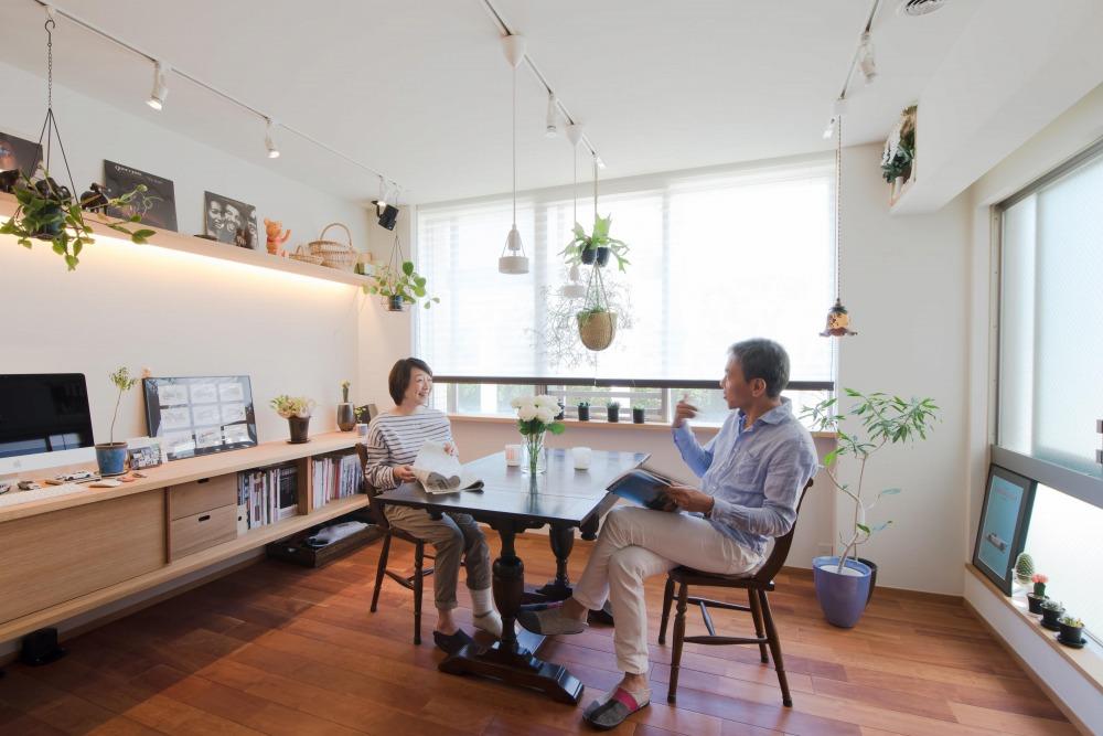 マンションリノベーション,ハンズデザイン一級建築士事務所,ダイニング,飾り棚,間接照明