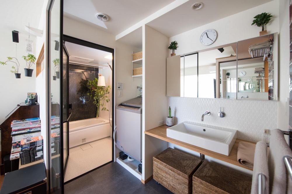 マンションリノベーション,ハンズデザイン一級建築士事務所,サニタリー,浴室,パーティション