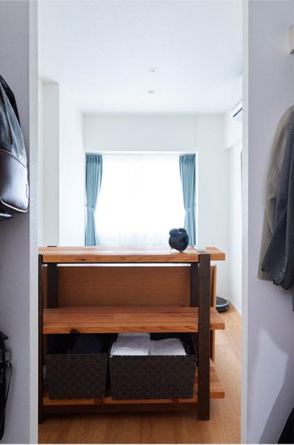マンションリノベーション,インテリックス空間設計,寝室,ウォークインクローゼット,ベッドルーム