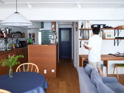 「インテリックス空間設計」のマンションリノベーション事例「自らのアイデアと直感を信じて。他の誰でもない「私」の生活スタイルに合わせたリノベーション」
