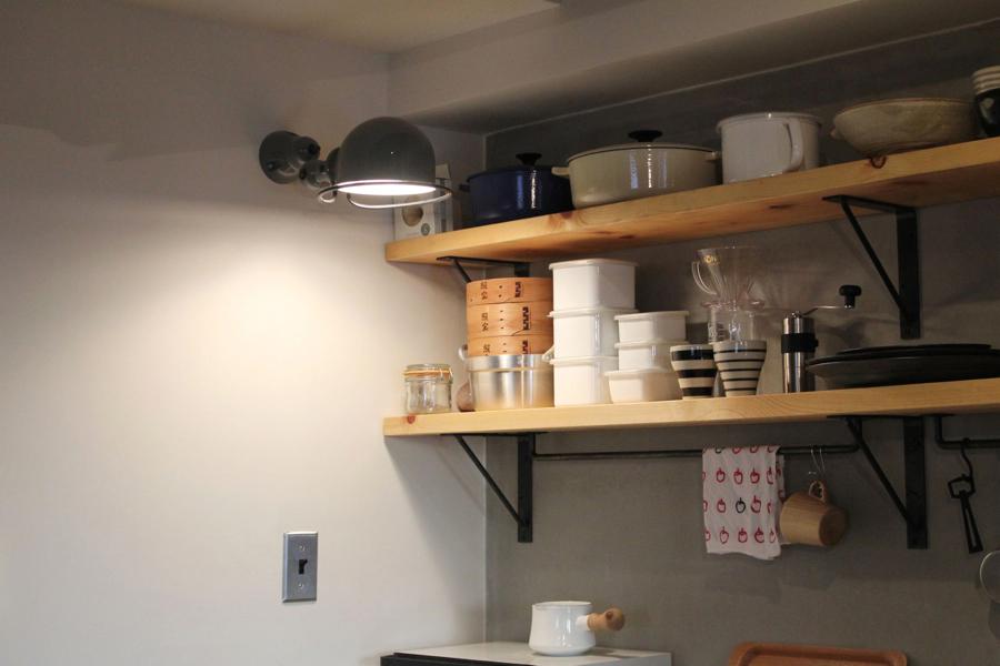 フィールドガレージ,マンションリノベーション,キッチン,収納,オープン棚