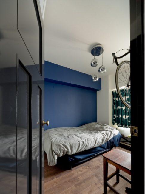 ハコリノベ(SUN REFORM),マンションリノベーション,寝室,造作ドア,アクセントウォール