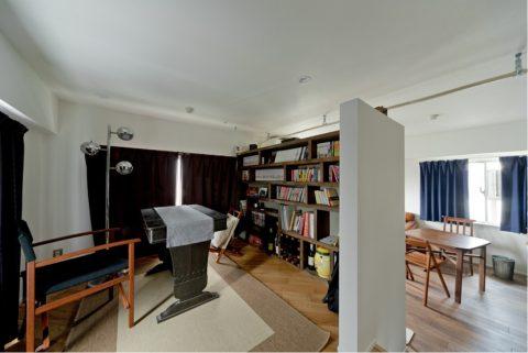 ハコリノベ、マンションリノベーション、書斎スペース、読書スペース、スタディスペース、小上がり