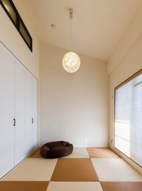 ハコリノベ,マンションリノベーション,和室,琉球畳,室内窓