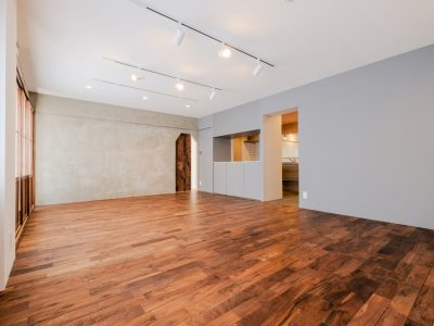 「リノデュース」のマンションリノベーション事例「部屋数を減らしたリノベーションで大変身!憧れのヴィンテージ&和モダンをテーマに」
