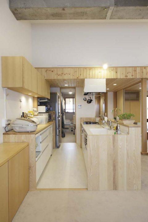 マンションリノベーション、スタイル工房、ウォークスルー、キッチンと寝室をつなげる、回遊動線、生活動線