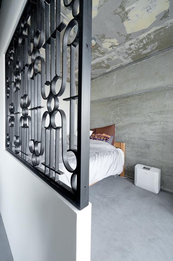 ハコリノベ(SUN REFORM),マンションリノベーション,寝室,飾り窓,インダストリアル