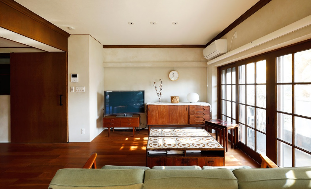 インテリックス空間設計,実家リノベーション,リビング,北欧,格子窓