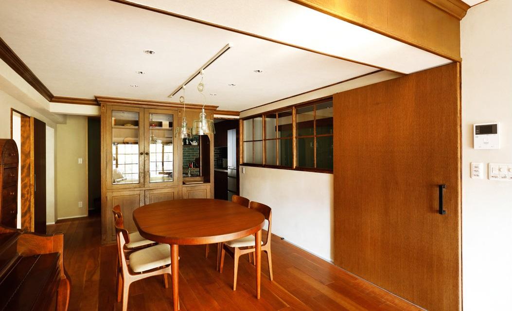 インテリックス空間設計,実家リノベーション,ダイニング,室内窓,北欧