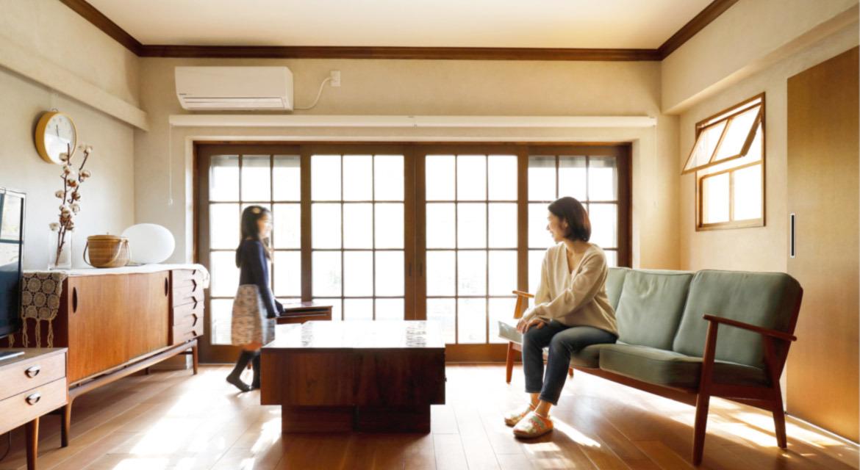 「インテリックス空間設計」のリノベーション事例「子育て家庭のためのアイデア満載!築46年の実家を北欧ビンテージ感あふれる住まいにフルリノベ」