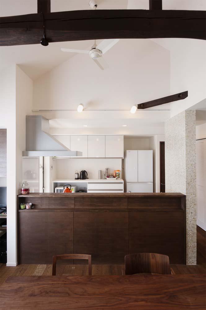 二世帯住宅,戸建てリノべ,スタイル工房,化粧張り,対面キッチン,アッシュフリー,カウンター