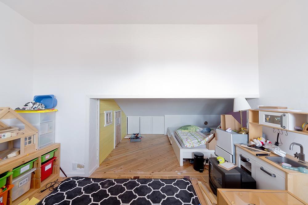 GLADDEN,戸建リノベーション,子ども部屋,DIY,斜め張り