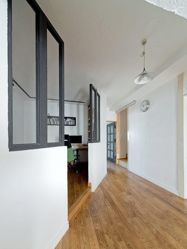 GLADDEN,戸建リノベーション,書斎,アイアン,室内窓