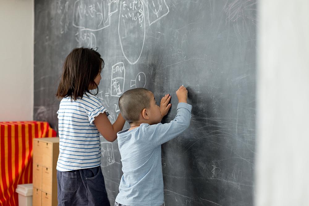 GLADDEN,戸建リノベーション,アトリエ,黒板,子ども