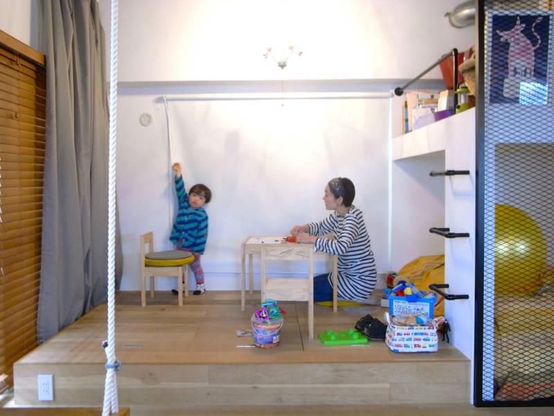 ゼロリノベ,マンションリノベーション,寝室,プレイルーム,ロフト