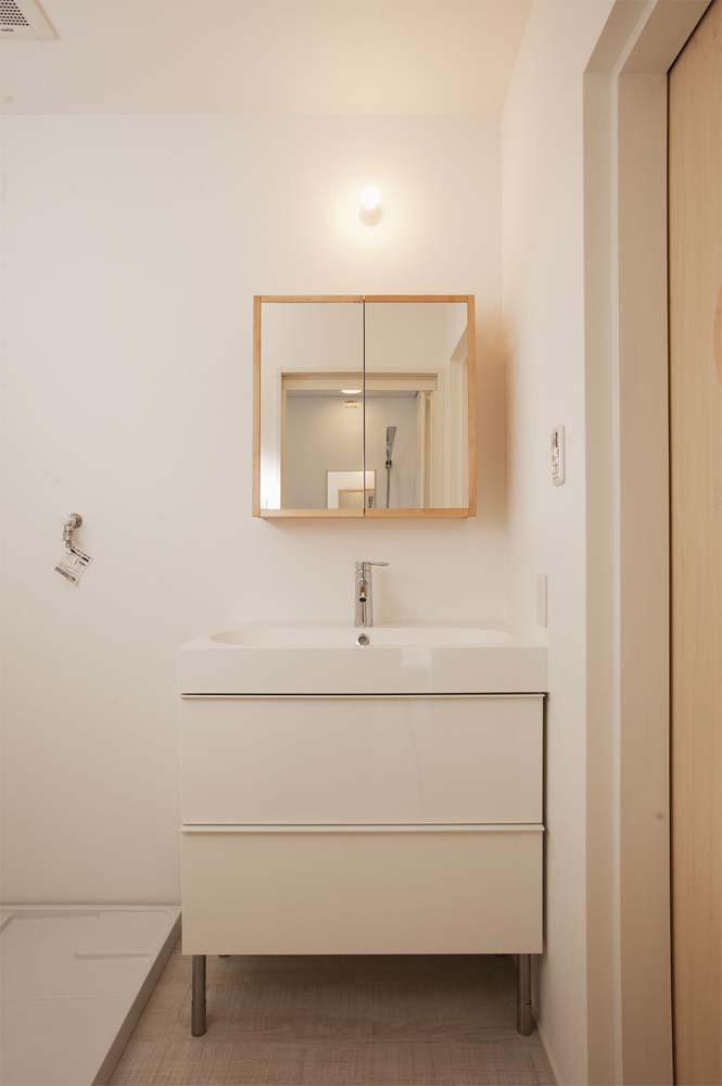 実家リノベーション,戸建てリノベーション,洗面室,脱衣所,洗濯導線