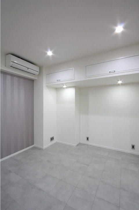 戸建てリノベーション、株式会社アレックス、アウクセントクロス、主寝室、ダウンライト