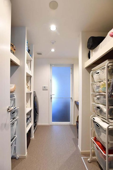 マンションリノベーション、錬、川崎市、リノベーション、洗面室、サニタリー収納、ランドリー収納、IKEA