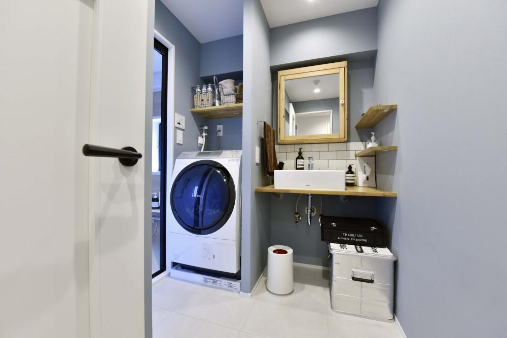 マンションリノベーション、リノステージ、IKEA、ナチュラル洗面台、洗面収納