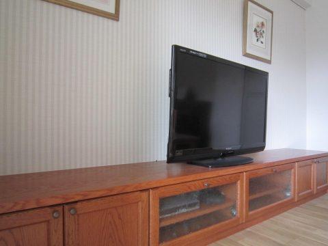 マンションリノベーション、湘南リフォーム 、TVボード、レトロ家具、オーダーメイド家具