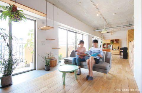 マンションリノベーション、nu(エヌ・ユー)リノベーション 、イデー、シボネ、室内グリーン