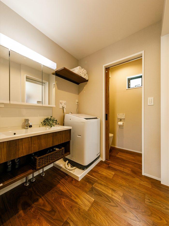 戸建リノベ、実家リノベ、耐震補強、水まわり、ナチュラル、トイレ、洗面台、パナソニック