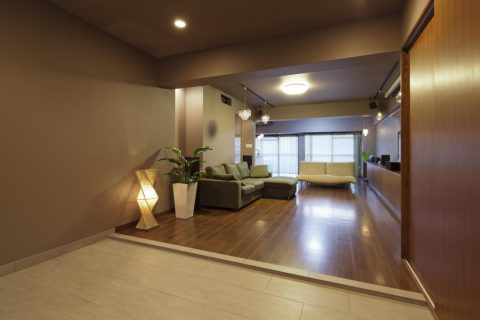 マンションリノベーション、GLADDEN、玄関土間、ワンルーム、ホテルライク