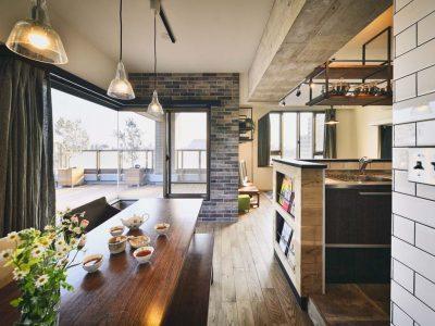 「スタイル工房」のマンションリノベーション事例「マンハッタンのカフェ気分が味わえる素敵な暮らし」