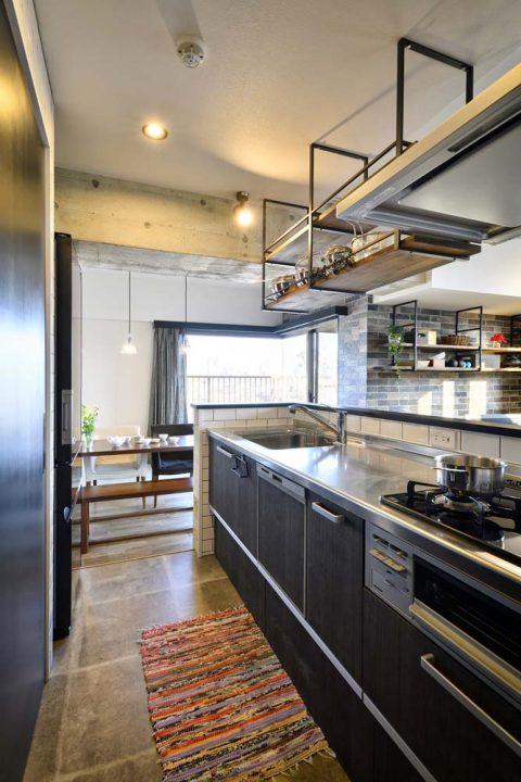 スタイル工房、マンションリノベーション、、オープンキッチン、アイランドキッチン、キッチン収納
