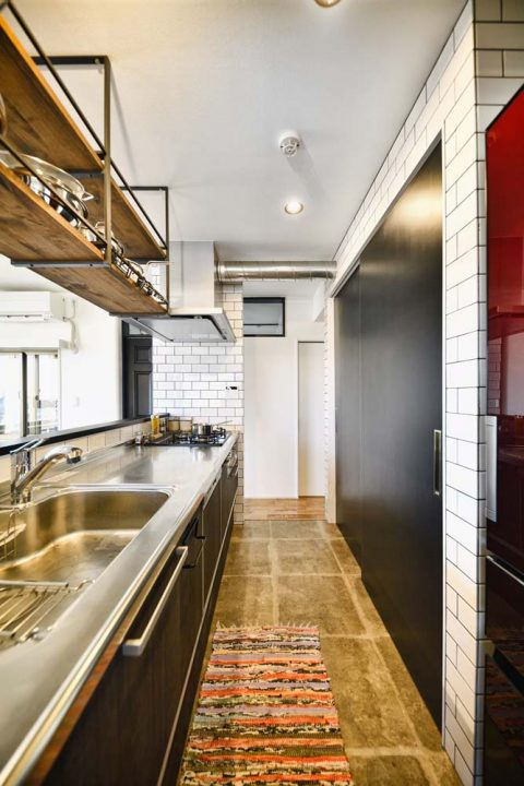 スタイル工房、マンションリノベーション、、オープンキッチン、アイランドキッチン、キッチン収納、背面収納