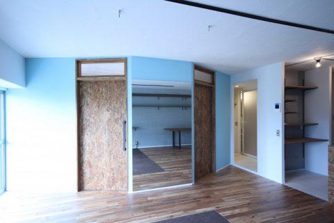 マンションリノベーション、中古リノベーション、子ども部屋、個室、台形部屋