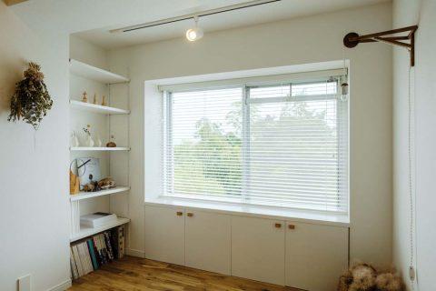 マンションリノベーション、リノデュース、出窓風、オープン収納、窓下収納