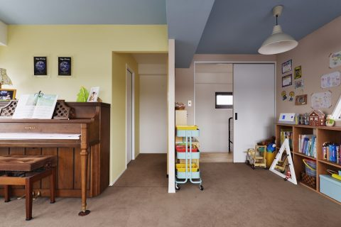 マンションリノベーション、スタイル工房、メゾネットタイプ、子ども室、可変、2部屋にわける