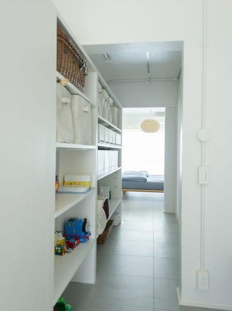 マンションリノベーション、ゼロリノベ、WIC、ウォークスルークローゼット、子ども部屋収納