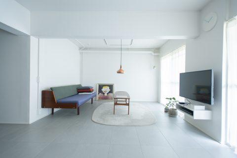 マンションリノベーション、ゼロリノベ、北欧インテリア、チーク家具、壁式構造リノベ