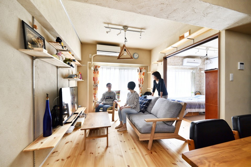 「株式会社 夢工房」のリノベーション事例「お互いが安心できる距離感。二世帯同居のマンションリノベーション」