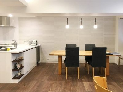 「株式会社 アレックス」のマンションリノベーション事例「オープンキッチンで心地よいLDKを叶えたスケルトンリノベーション」