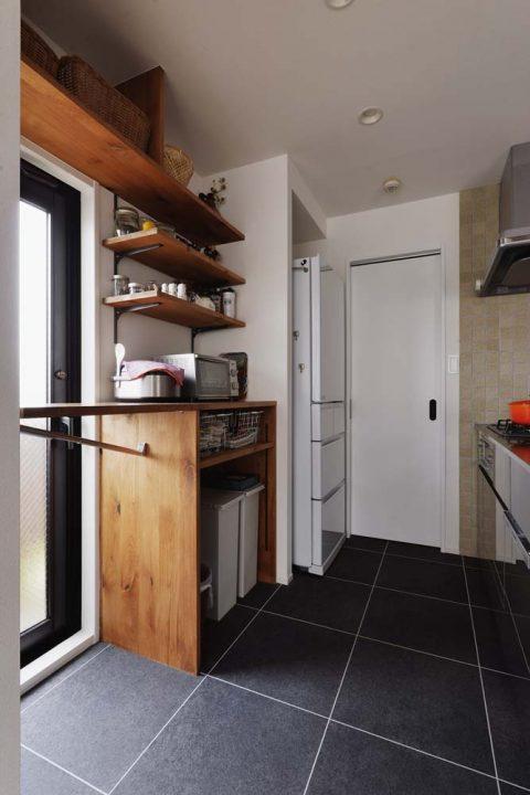 スタイル工房、マンションリノベーション、造作収納、キッチン収納、家電収納