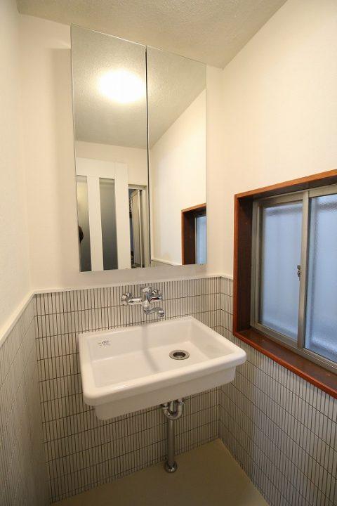 戸建リノベーション、リノベーション東京、実験用シンク、SK6、洗面収納