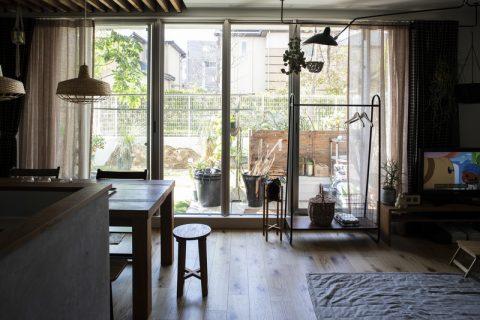 マンションリノベーション、ハコリノベ(SUN REFORM)、庭付きマンション、専用庭、セルジュ