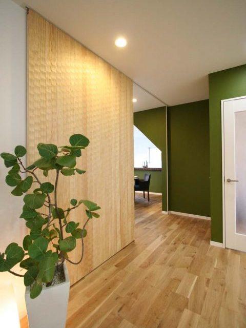 戸建リノベーション、住工房株式会社、愛知県、引き戸、間仕切り、木目の引き戸
